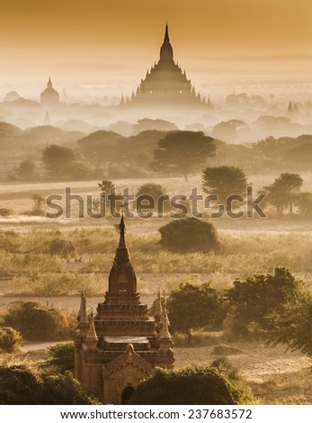 The  Temples of Bagan(Pagan), Mandalay, Myanmar - stock photo
