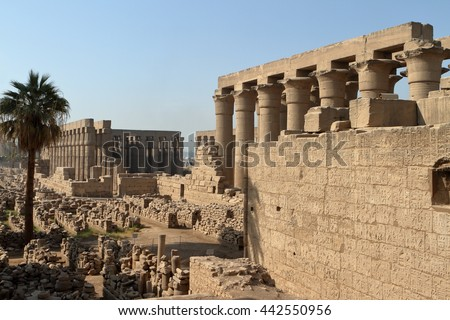 The Temples of Luxor in Egypt - stock photo