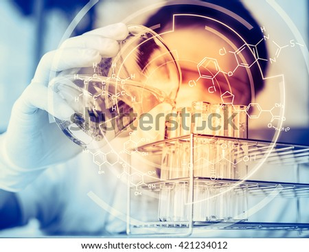 The testing and research analytical laboratories. - stock photo