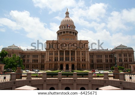 The Texas State Capitol Building in downtown Austin, Texas.