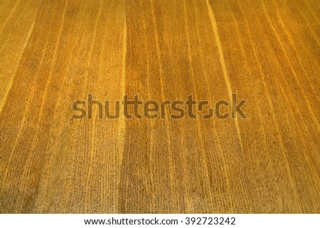The texture of an old oak table top - stock photo