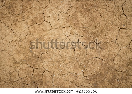 The texture of cracked earth - stock photo