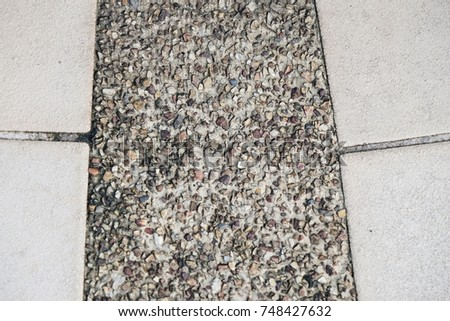 The texture of floor tile on footpath.