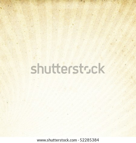 The texture of recycled paper with rays image. Useful as background. - stock photo