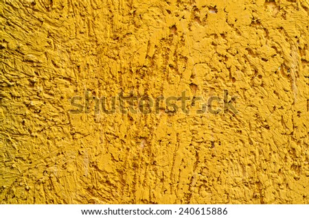 The texture of rough surface yellow - stock photo