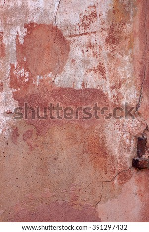 The texture of the old wall, orange