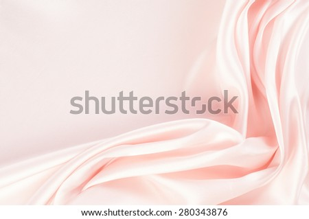 The texture of the silk fabric, soft pink.  rose-color, rose-colour, rose. Beautiful soft crumpled pink silk texture - stock photo