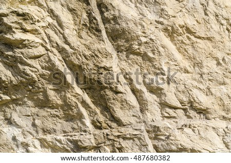 The texture of the surface of a mountain in the North Caucasus, Russia