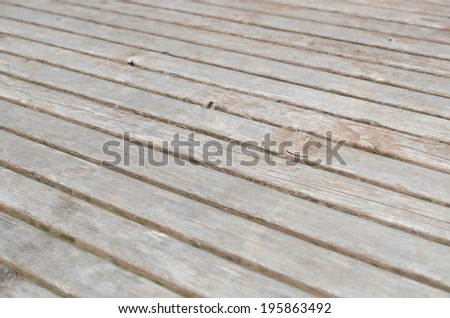 the texture of wooden boards floor,perspective - stock photo