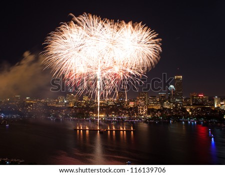 The 4th of July celebration in Boston, Massachusetts - stock photo