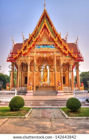 The Thai temple art of the faith in Thailand - stock photo