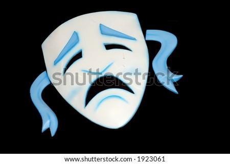 The theater mask - stock photo