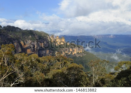 The Three Sisters - Australia - stock photo
