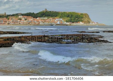 The tide coming in - Scarborough Bay - England - UK