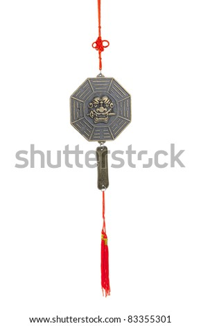 The tiger's sword lessons wind chime, the chinese feng shui - stock photo