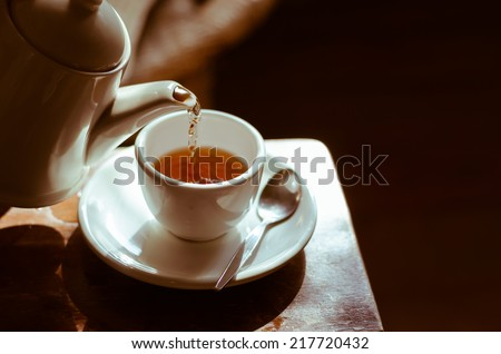 The Time of Tea Break. - stock photo