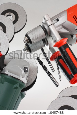 The tool is randomly scattered - stock photo