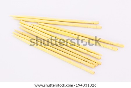 The tooth pick on white background