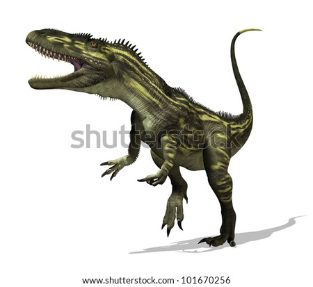 The torvosaurus dinosaur lived during the Late Jurassic Period - 3D render.