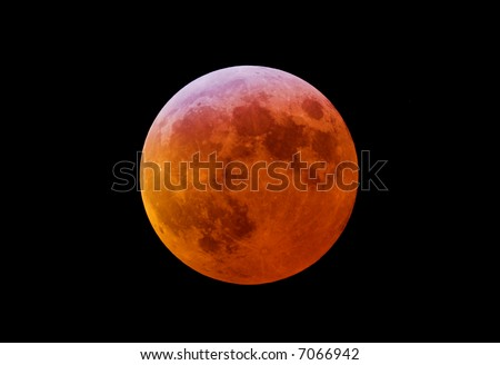 The total lunar eclipse 2007 - stock photo