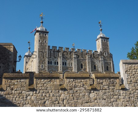 The Tower of London in London, UK - stock photo