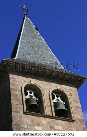 the tower of the church in Eugi (Navarre)
