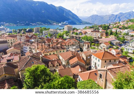 The town of Kotor. Montenegro - stock photo