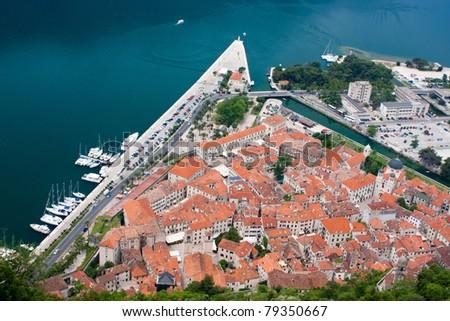 The town of Kotor, Montenegro, Europe - stock photo