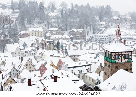 The town of Kulmbach in Franconia, Germany - stock photo