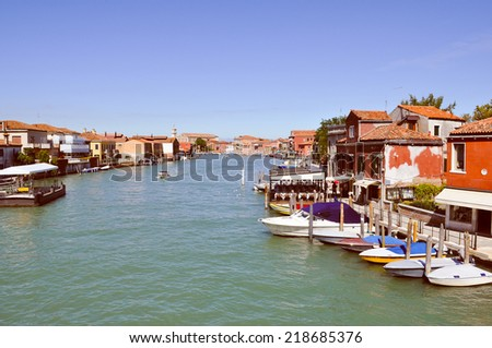 The town of Murano near Venice (Venezia), Italy