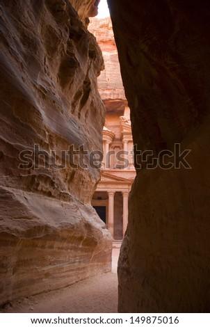 The Treasury, Petra, Jordan - stock photo