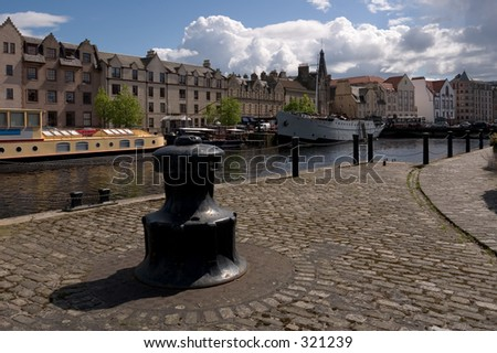 The trendy waterfront area in Leith, Edinburgh, Scotland - stock photo