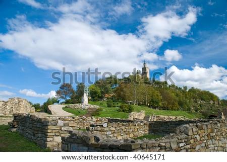 The Tsaravets hill in Veliko Tarnovo, Bulgaria - stock photo