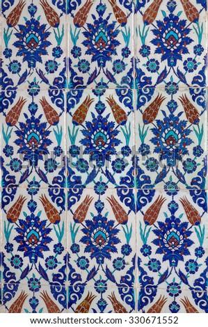 Turkish Ceramic Tiles Rustem Pasha Mosque Stock Photo