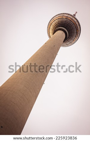 The TV Tower located on the Alexanderplatz in Berlin, Germany - stock photo