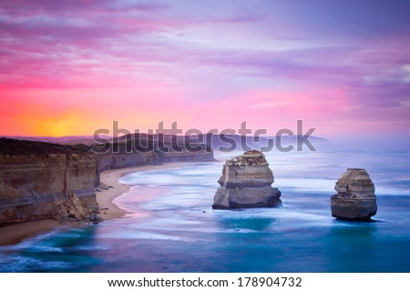 The Twelve Apostles, Great Ocean Road, Victoria - stock photo