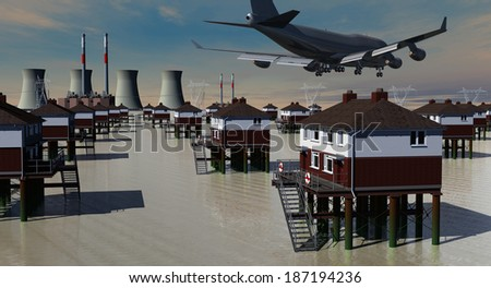 The Twilight of the Engines -Â?Â? landscapes of the Twenty-first Century - stock photo