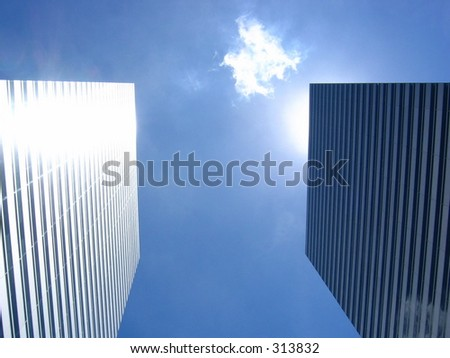 The twin towers of the Gateway on a clear blue sunny day - stock photo