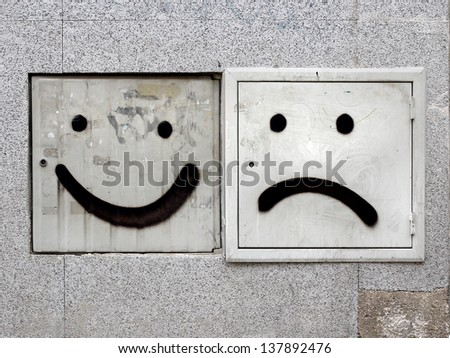 The two faces - stock photo