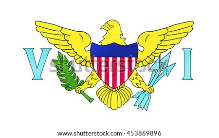 the U.S. Virgin Islands flag - 3D illustration