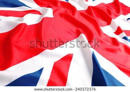The UK, British flag, Union Jack - stock photo