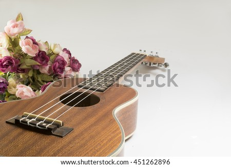 The ukulele playing for music.