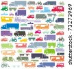 The ultimate car traffic colorful raster illustration collection - stock photo
