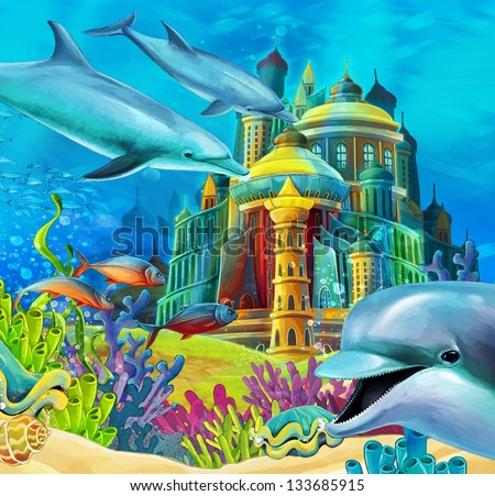 Underwater Mermaid Castle Underwater Castle Prin...
