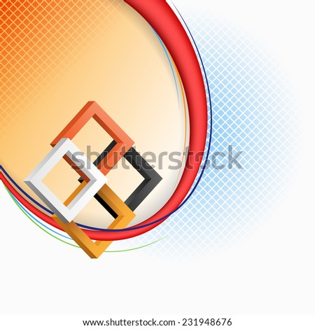 The Unique Idea for abstract background; Three dimensions squares in artistic design and elaborate arrangement. Abstract background for office and business, wallpaper, poster, template for designers.  - stock photo