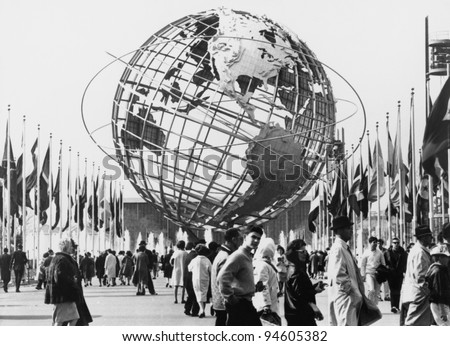 The Unisphere, symbol of the New York 1964-65 World's Fair. Flushing Meadow Park, New York - stock photo