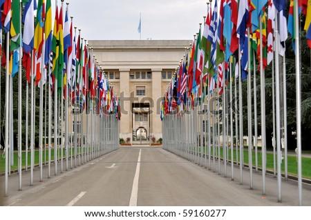The United Nations Office at Geneva Switzerland - stock photo