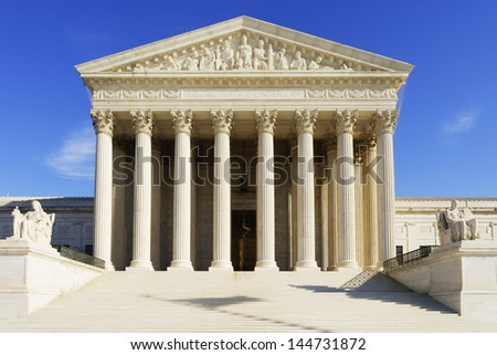 The United States Supreme Court building. - stock photo