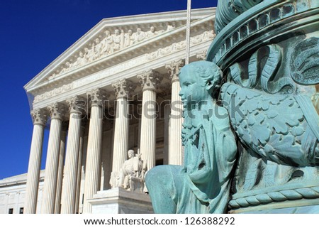 The United States Supreme Court in Washington, DC - stock photo