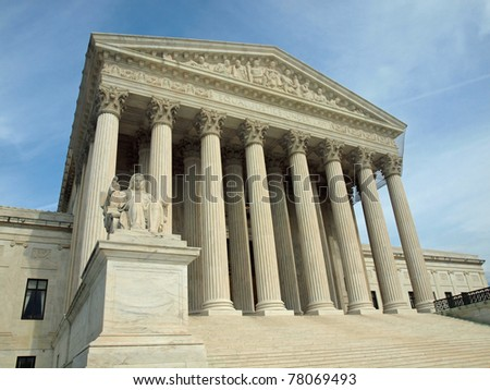 The United States Supreme Court in Washington DC - stock photo